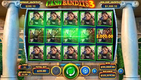 รีวิวเกมสล็อตออนไลน์ Cash Bandits 3